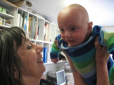 Felix Smiling with Mum
