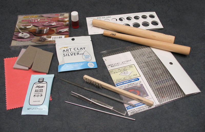 Tools for working silver clay