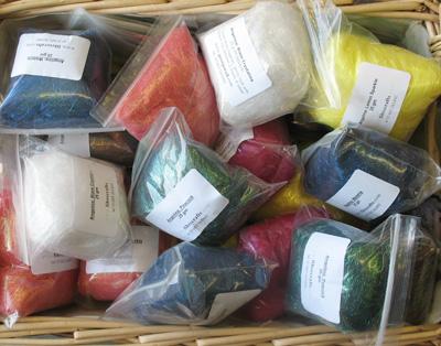 Basket of Angelina fibres