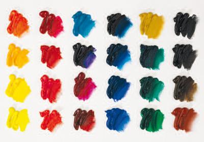 Oil Paint Colour Swatches