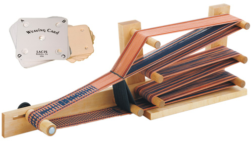 Schacht Inkle Loom and Plastic/Leather Lacis Weaving Cards