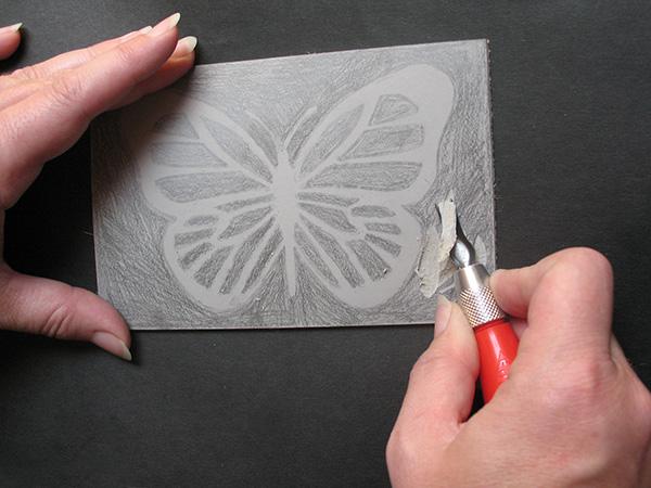 Using a Lino Cutter