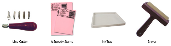 Tools for printing onto card with an ink block