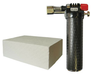 Blowtorch and fibre brick
