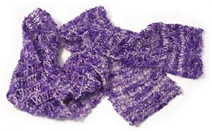 Italian silk boucle yarn scarf