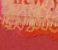 Christmas Card made with Organza Printable Silk Fabric