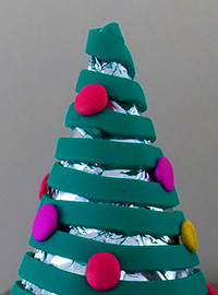Polymer Clay Christmas Tree Decoration