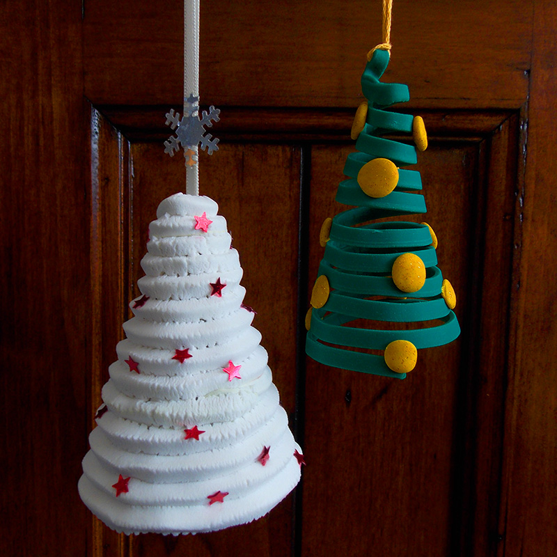 Extruded Polymer Clay Christmas Tree Decorations