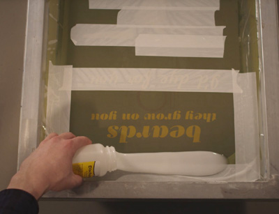 Printing with Discharge paste