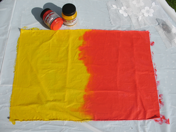 Sun printing with Jacquard Dye-na-flow