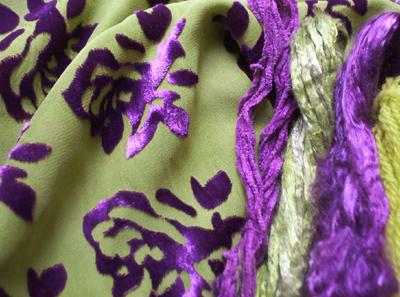 Dyed Cotton, Silk and Tencel Fibre