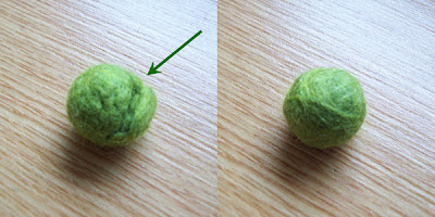 Repaired Felted Bead