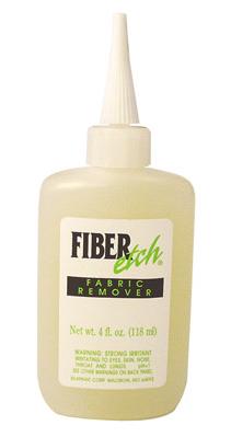 Fiber Etch for burning away cellulose fibres