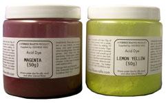 Acid dye pots