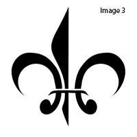How to create a Fleur-de-Lis stamp