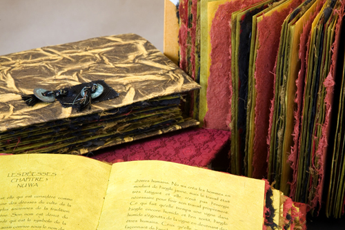 Lokta paper books with Suede covers