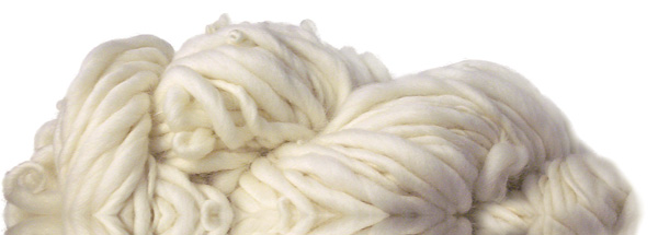 White spun wool fibres