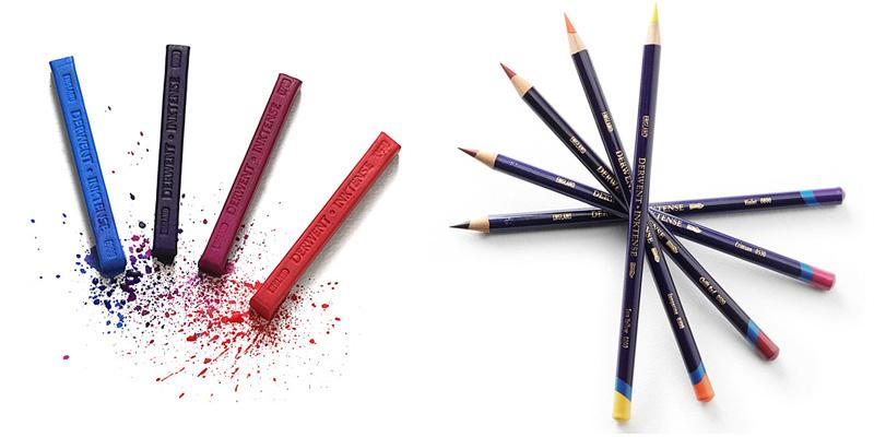 Derwent Inktense Blocks and Inktense Pencils