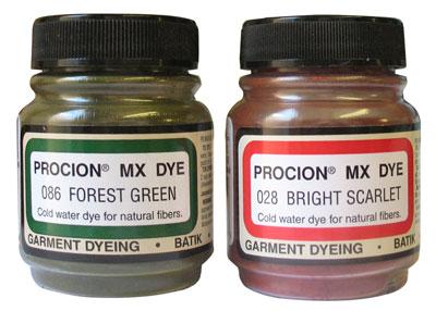 Procion MX Dye colours