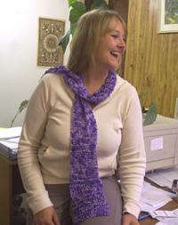 Jo boucle silk scarf