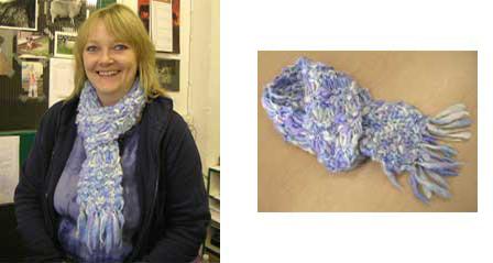 Slub Wool Yarn Scarf by Jo Barrell