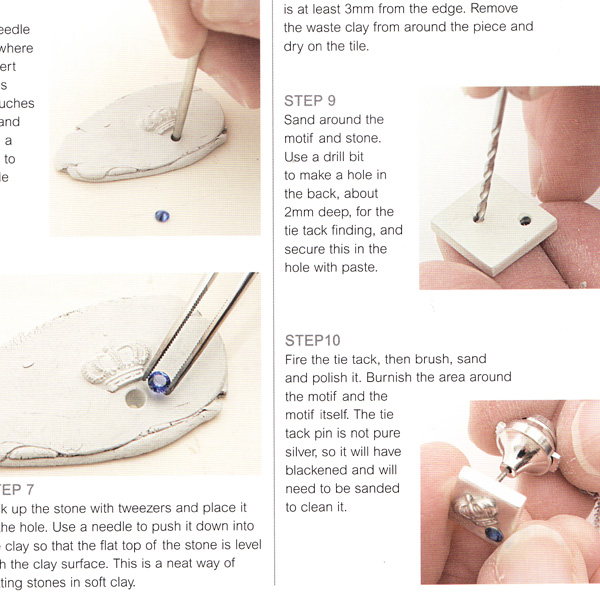 Example page from Magical Metal Clay Jewellery