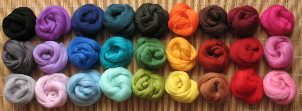 Merino Wool Tops Colours
