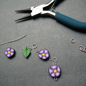Completed Polymer Clay Cane Links