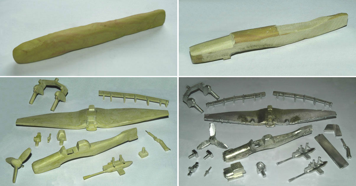 Milliput used in pewter casting