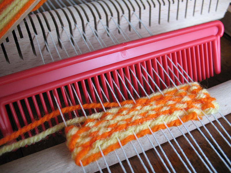 Basic weaving techniques using a simple rigid heddle loom