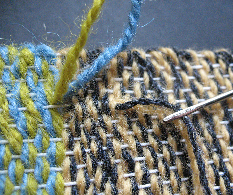 How to finish yarn ends