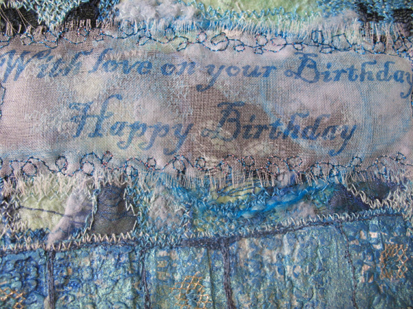 Embroidered Message by Linda Chapman