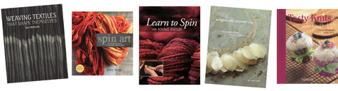 Weaving Textiles, Learn to Spin, and other book titles