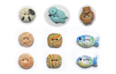 Detailed Polymer Clay Buttons