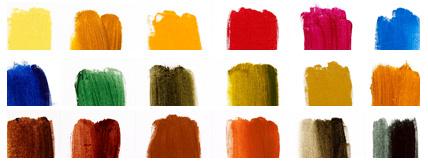 Different coloured Oil Paints