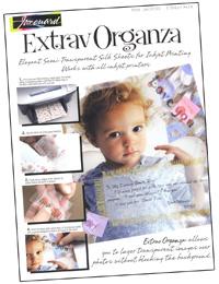 inkjet printer and copier fabric, Extrav Organza