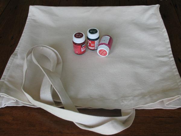 Canvas Bag and Paints