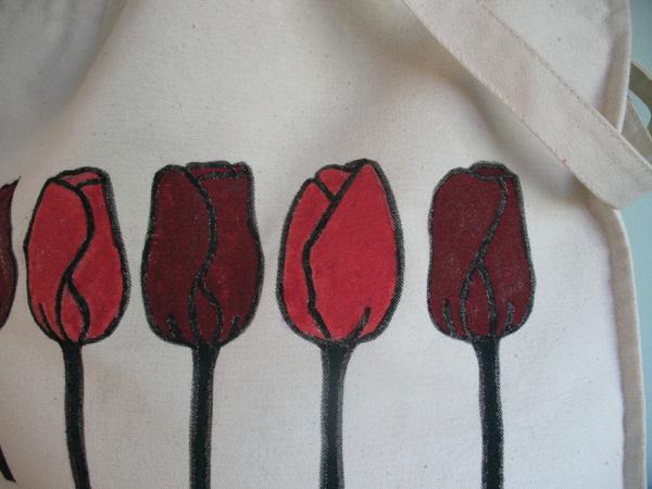 Painted fabric using Deka Fabric Paints