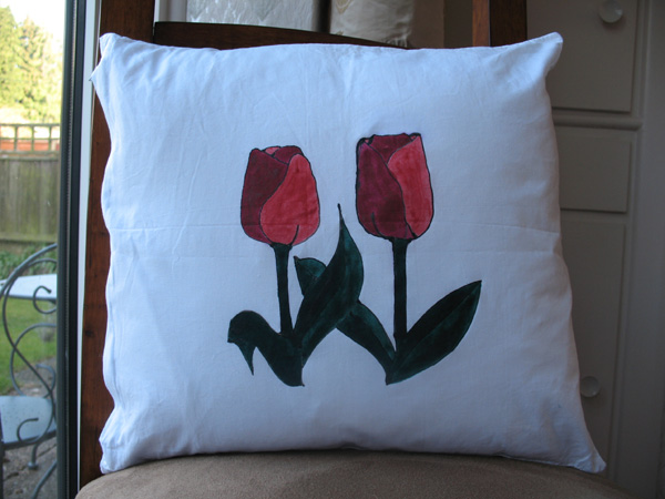 Painted Cushion