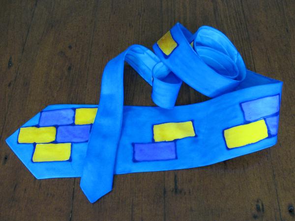 Simpler Painted Silk Tie
