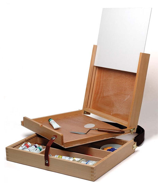 Large Beach Wood Pochade Box with Winsor & Newton Artists Canvas Board