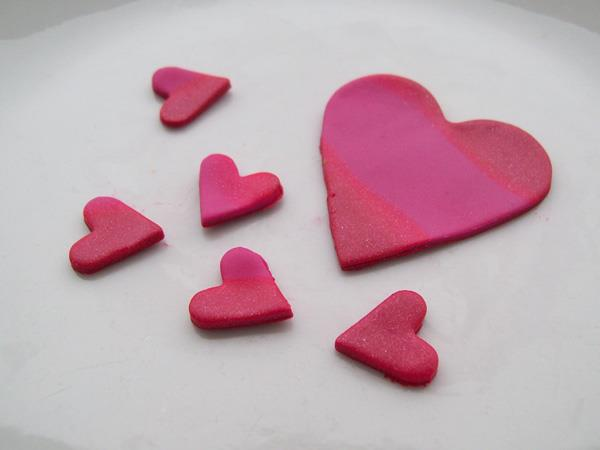 Heart shaped decorative Polymer Clay