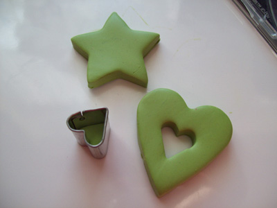Heart shaped Polymer Clay