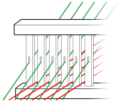 Diagram of a Rigid Heddle Reed