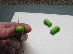 Creating a hole in Polymer Clay