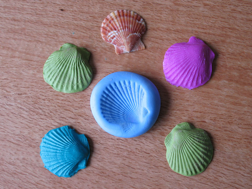 A Shell mould make from Gedeo Siligum