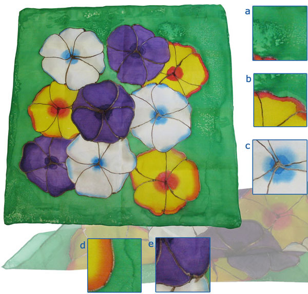 Different Silk Painting Techniques