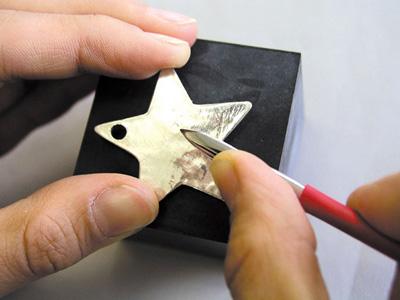 Silver clay star