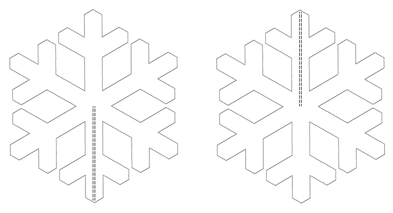 Foamboard Snowflake Design