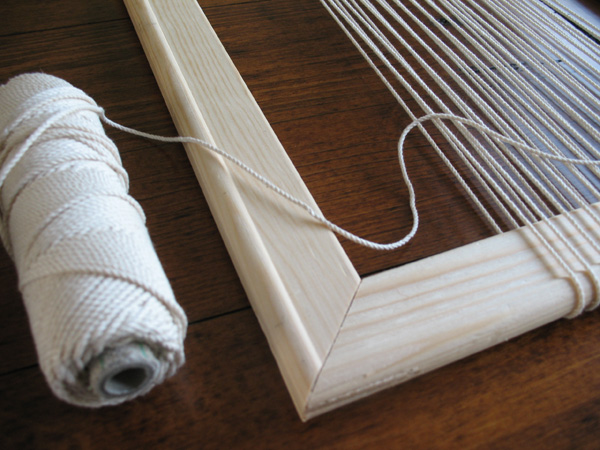 Creating the warp for weaving